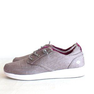 Sperry Baycoast Gray Sparkle Shoes Girls Size 1